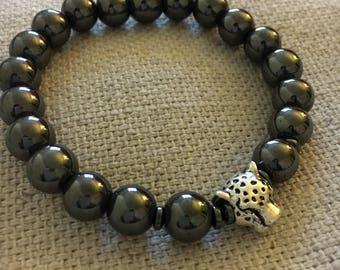 Hematite Men's beaded Bracelet