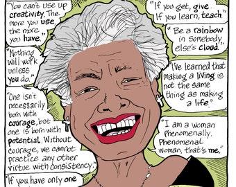 Maya Angelou full-color print