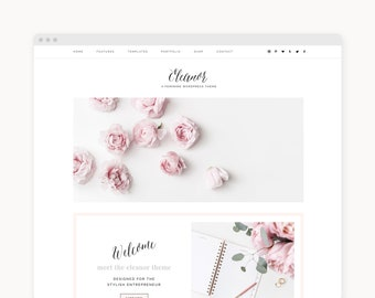 "Wordpress Theme - Wordpress Ecommerce Theme - Genesis Wordpress Website Theme - Business Shop Theme - ""Eleanor"" Instant Digital Download"