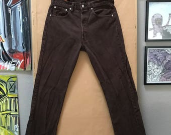 Vintage 90's Levi's 501 Jeans Made in USA Levis Brown 501's 32 x 30 Levi Strauss