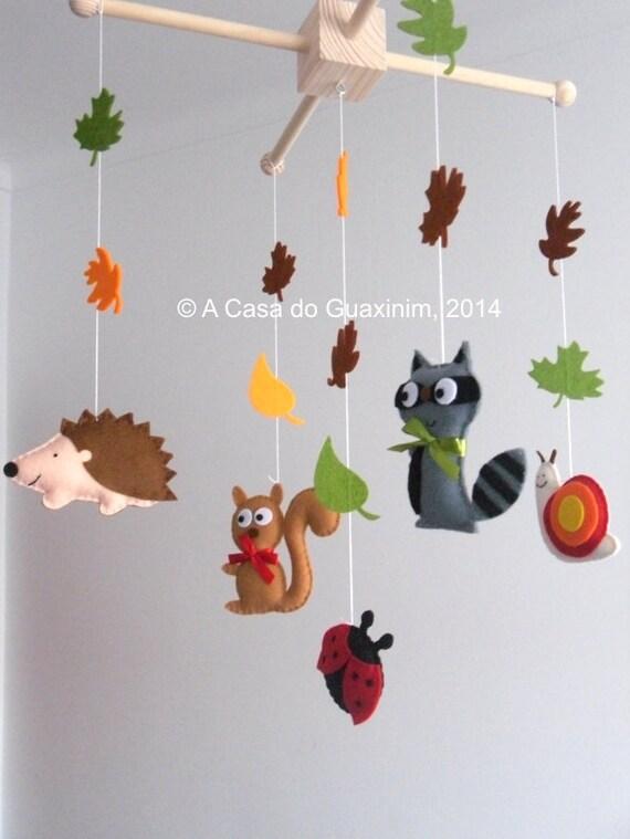 baby mobile forest animals. Black Bedroom Furniture Sets. Home Design Ideas