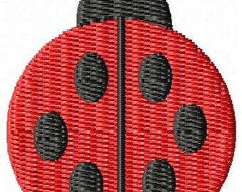 Ladybug Machine Embroidery Design Mini
