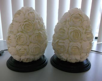 Pair of Lamps with Sea Shell Shades Sea  Shell Accent Lamps