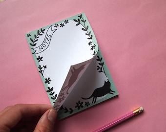 A6 Cat List Pad - Cat NotePad - Cats - Lists - I like cats - Cats - Cat notebook - Notebook - Notepad - Cat book - paper