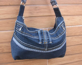 Denim bag,handbag, purse,hobo,slouchy bag,shoulder bag bags andpurses,jeans bag,streetfashion,grungestyle,rock,hippie,bohemian,Женские сумки