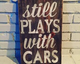 Car wood sign