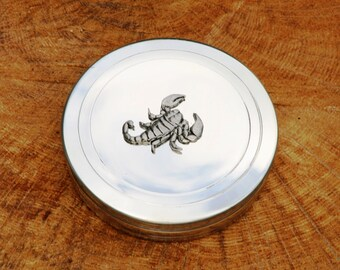 Scorpion Trinket Box English Pewter Ladies Gift