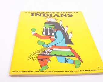 A Coloring Book of Native American Indians - Unused - Educational - Classroom - Craft ~ The Pink Room ~ 161216