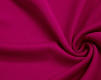 Fuschia 60'' Solid Stretch Scuba Knit Fabric by the Yard - Style 3044