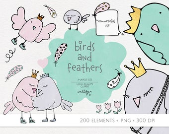 Bird clip art pictures, clipart images, feather clip art images, image clipart, stock illustration, digital scrapbooking, digital graphics
