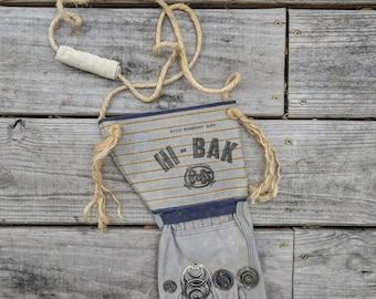 "Vintage Handmade ""Handbag""   Purse   Re-purposed Purse   Gardening   Buttons   Weekend Purse   Glove   Farmer   Rockabilly"