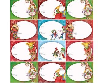 Christmas tags, Stickers, Christmas Gift tag, printables, Christmas Presents Tags, Commercial Use,  AMB-601