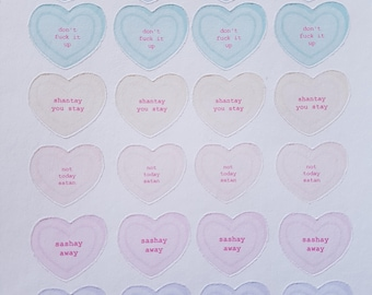 Drag Race Candy Hearts, Ru Paul Planner Stickers