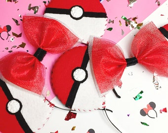 Pokemon Go Pokeball Minnie Mouse Ears Headband