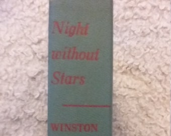 Night Without Stars by Winston Graham, Copyright 1950, Vintage Fiction Novels, Vintage Thrillers, Vintage Suspense, Winston Graham, Novels