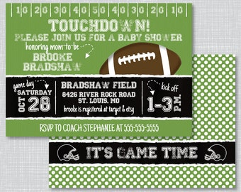 Football Baby Shower Invitations, Baby Shower Invitations, Football Baby  Shower, Baby Shower Invites, Baby Shower Book Request, BS2008