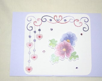 Unique Hand Embroidered Card