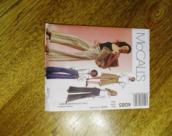 BOHO Wide Legged Culottes & Hipster Pants / Trousers - Choose Your Size - UNCUT Sewing Pattern McCalls 4259