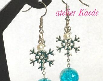 """Earrings """"Snow crystal - winter"""""""