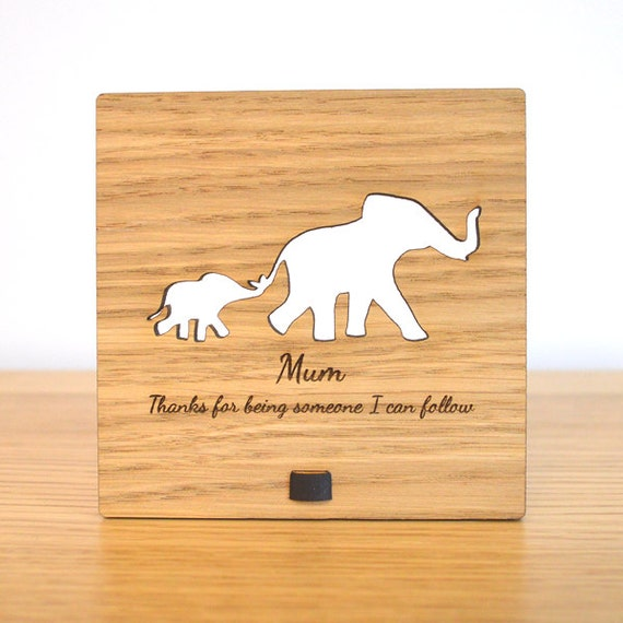 Cute Elephant Plaque Sign for Mum Mummy Mothers Day Elephants Gift Present Idea