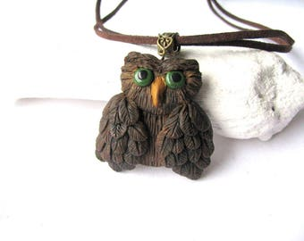 Owl necklace - Owl jewelry gift - Owl pendant - Owl jewelry - Owl gift for her - Jewelry Owl gift - Christmas gift - Owl charm necklace