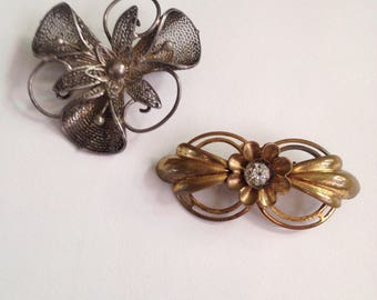 Antique Pair of Victorian Brooches