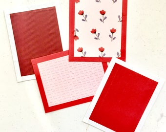 Valentine's Day Postcards - set of four