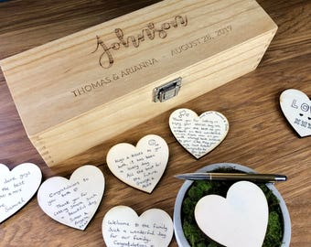 Wedding Guestbook - Wedding Guest Book  - Alternatives - Guestbook Sign - Personalised Custom Guest Book - Rustic Wedding Box - Unique Ideas