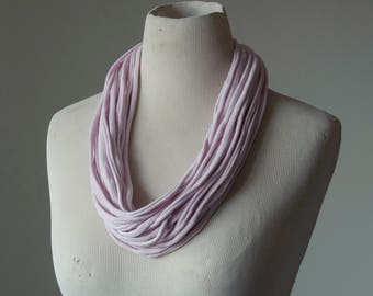 Recycled T-Shirt Necklace Pink