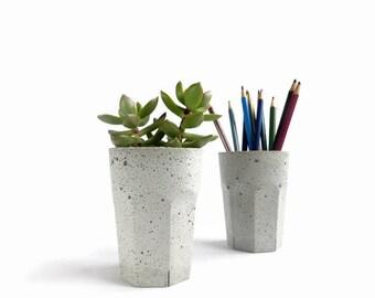 Olla concreto taza para suculentas Cactus gris urbano Industrial plantador Home Decor
