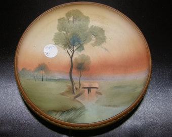 Antique Nippon Hand Painted Bowl With Rising Sun and Tree Morimura Brothers M Mark