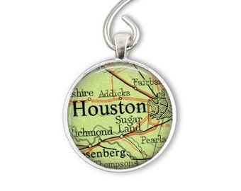 Houston Texas Gifts under 15, Houston Ornament, Texas Christmas Ornament, Aunt Holiday Ornament or as Bottle Opener Keychain, boyfriend gift