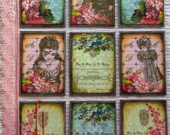 Letter Pockets, Snail Mail Swap, Pen Pal Letter Swap, Happy Mail, Card Protector Sheet, Scrapbooking, Vintage Certificates, Vintage Art