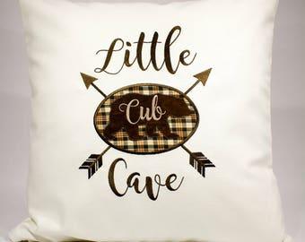 Bear Cub Nursery, New Baby Bear Gift, Rustic Bear Nursery, Little Bear Nursery Decor, Plaid Bear Cub Decor, Bear Room Decor