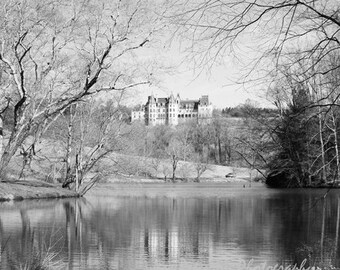 Biltmore Estate Photography, Asheville NC Photos, Biltmore Mansion Dreamy Winter Photos, Black & White Home Wall Decor Square Photo print