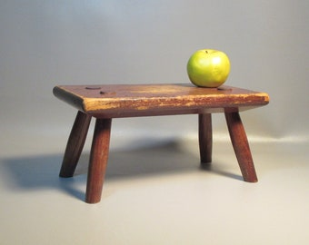 AAFA 19th Century Cricket Stool Hard Rock Maple Mortice & Tenon Construction