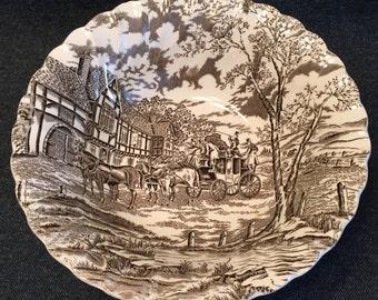 Vintage Staffordshire Ironstone Serving Bowl