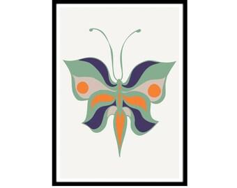 Minimalist Butterfly Art | Modern Nursery | Papillon Print