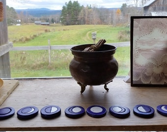 Moon Phases for Altar, Rituals, Divination, Ceremony, aligning with Moon Cycle, Lunar Cycle, Menstrual Cycle with or without magnet