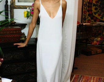 Formal Length Slip White Slip Black Slip off white Slip Nightgown Sleepwear Lingerie Dress Liner champagne slip bridal lingerie bridal slip