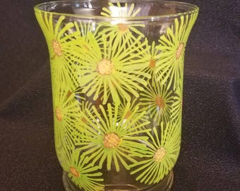 Green Sunburst Vase