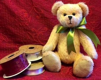 Sage, a beautiful 11 inch mohair bear