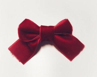 Christmas velvet bow