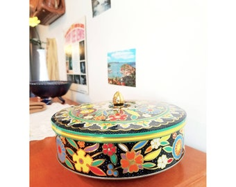 Vintage 1960's Tin Container