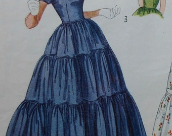 Vintage Dress Sewing Pattern Simplicity 3040 Size 12