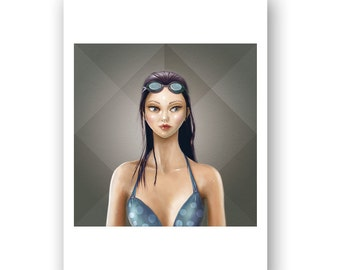 MAYA (elementals) - PRINT - Open Edition - 17x24 cm unframed - Square version