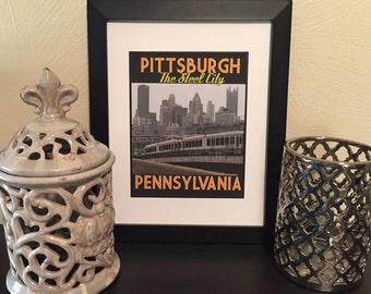 Pittsburgh City Print