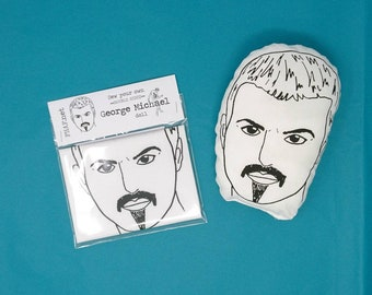Sew your own GEORGE MICHAEL doll - mini cushion kit. WHAM. 80s