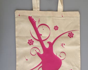 Guitar Music Loving Canvas Bag
