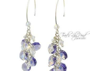 Tanzanite Earrings | Light Purple Earrings | Swarovski Crystal Earrings | Light Purple Jewelry | Gift for Mom | Gift for Her | Prom Jewelry
